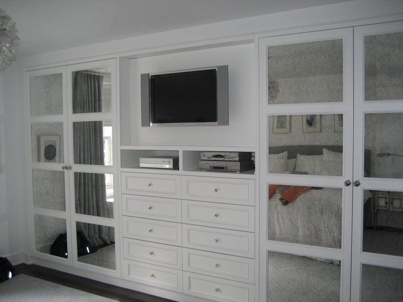 Eurocraft interiors portfolio Master bedroom tv wall unit